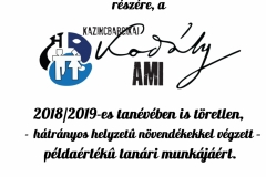 Igazgatói dicséret 2019 - Szűcs Kornél