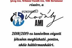 Igazgatói dicséret 2019 - Szuperiroda